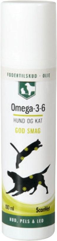 omega 3 og 6 til hunde